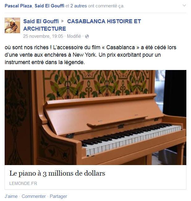 vente aux ench res du piano bar du film casablanca papyrandonneur 39 s blog pyrenees alpes atlas. Black Bedroom Furniture Sets. Home Design Ideas