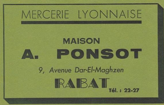 MAISON PONSOT RABAT
