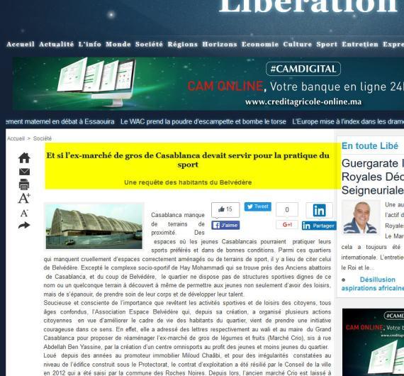11 LIBERATION L ANCIEN MARCHE CRIO EST LAISSE A